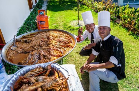paella catering Wedding punta cana, Dominican Republic.